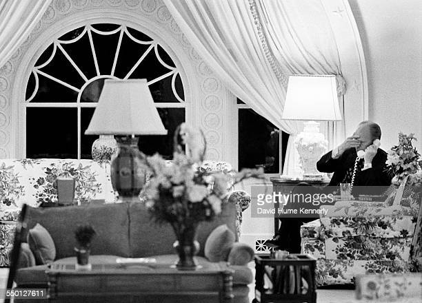 President Gerald R Ford talks with his Secretary of Defense James Schlesinger and orders 'Operation Frequent Wind' final evacuation by helicopter...