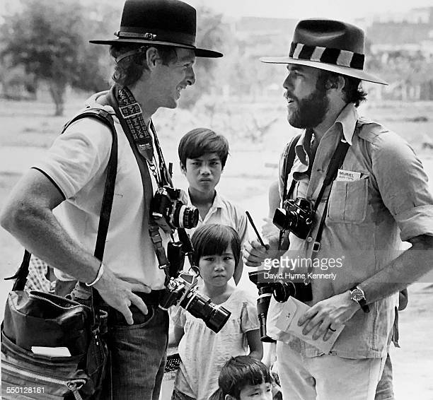 President Gerald R Ford's personal photographer David Hume Kennerly and Associated Press correspondent Matt Franjola, Phnom Penh, Cambodia, March 29,...