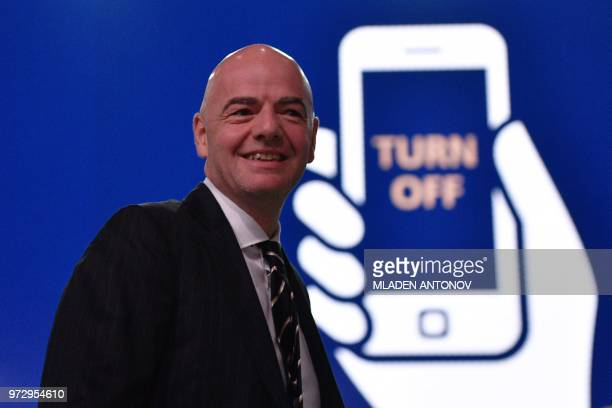 FIFA president Gianni Infantino attends the 68th FIFA Congress at the Expocentre in Moscow on June 13 2018