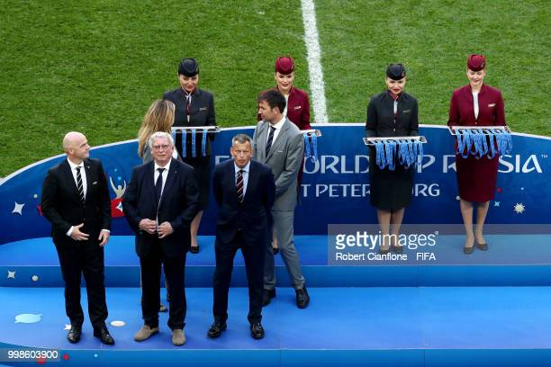 President Gianni Infantino General Secretary of the Royal Belgian Football Association Gerard Linard and head of Delegation for Team England Martin...