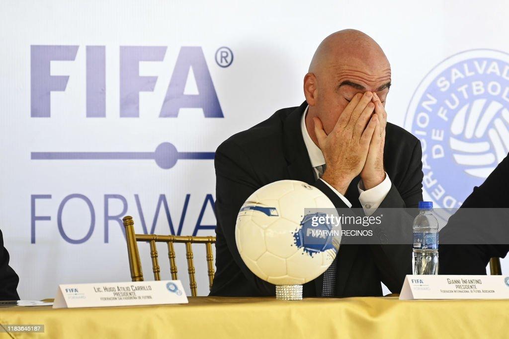 FBL-EL SALVADOR-FIFA-INFANTINO : News Photo