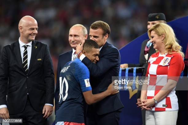 President Gianni Infantino President of Russia Vladimir Putin President of France Emmanuel Macron President of Croatia Kolinda GrabarKitarovic...