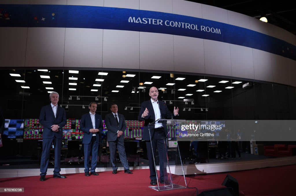 Official Opening of the IBC & Visit to VAR Operation Room - FIFA World Cup Russia 2018 : News Photo