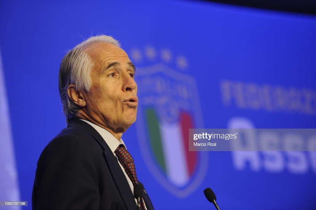 Italian Football Federation Elective Assembly : News Photo