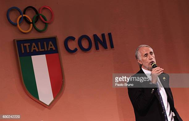 President Giovanni Malago' attends the Italian Olympic Commitee 'Collari d'Oro' Awards at Foro Italico on December 19, 2016 in Rome, Italy.
