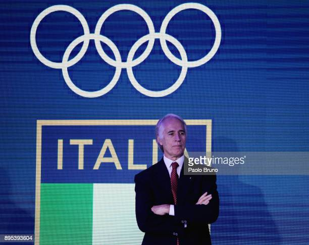 President Giovanni Malago' attends the Italian Olympic Committee 'Collari D'Oro' Awards at Foro Italico on December 19, 2017 in Rome, Italy.