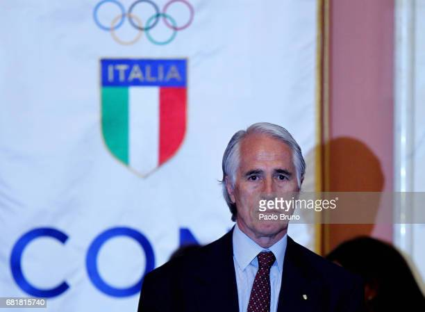 President Giovanni Malago' attends the Italian Olympic Presidential Committee election at Foro Italico on May 11 2017 in Rome Italy