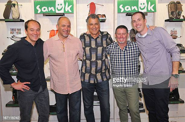 President Global Direct to Consumer for Deckers David Powers president and CEO of Deckers Angel Martinez COO of Deckers Zohar Ziv founder of Sanuk...
