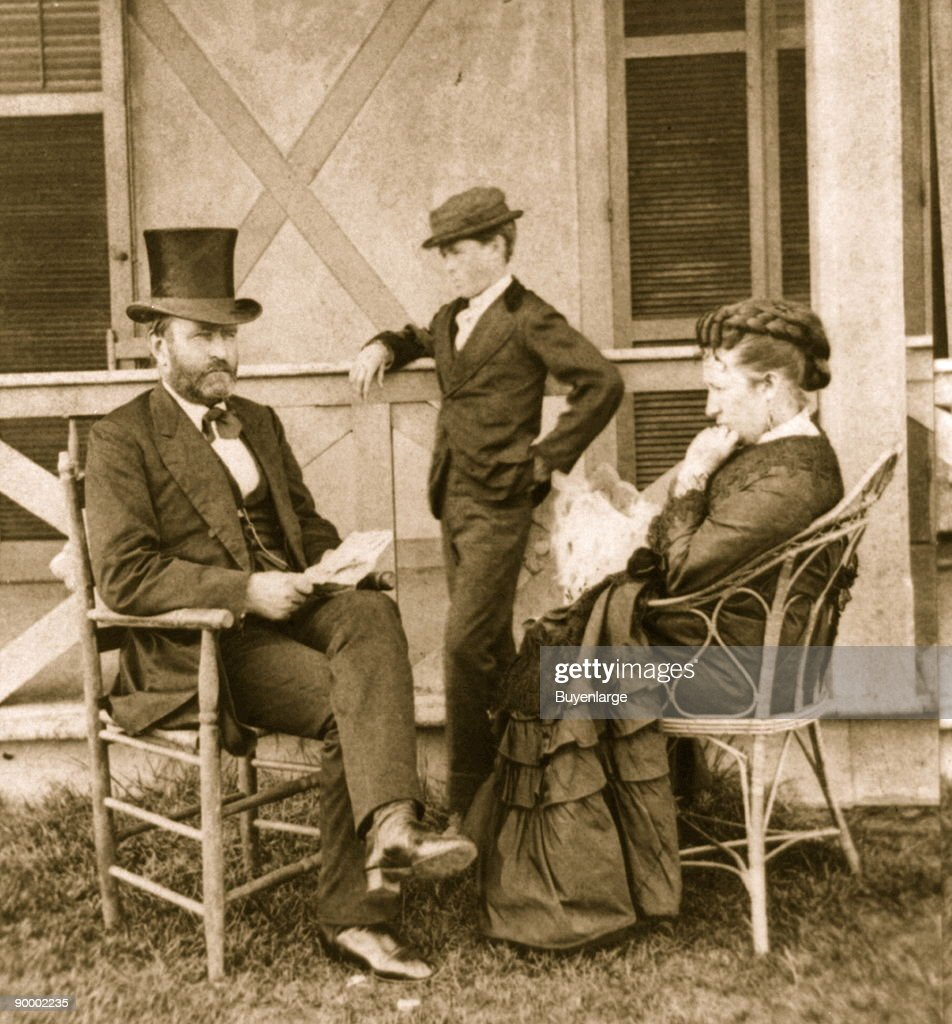 President Grant at his cottage by the sea : News Photo
