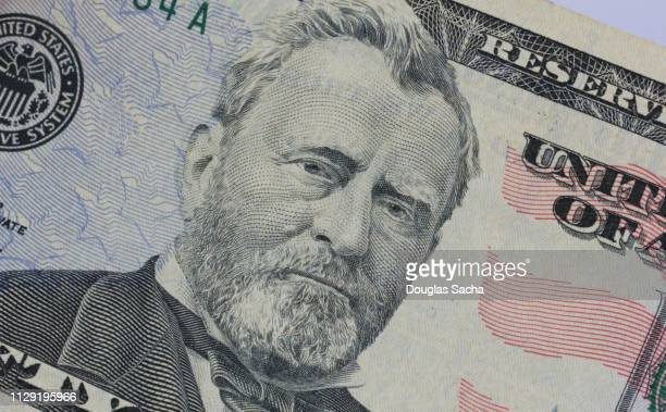 President Grant portrait on a US paper currency