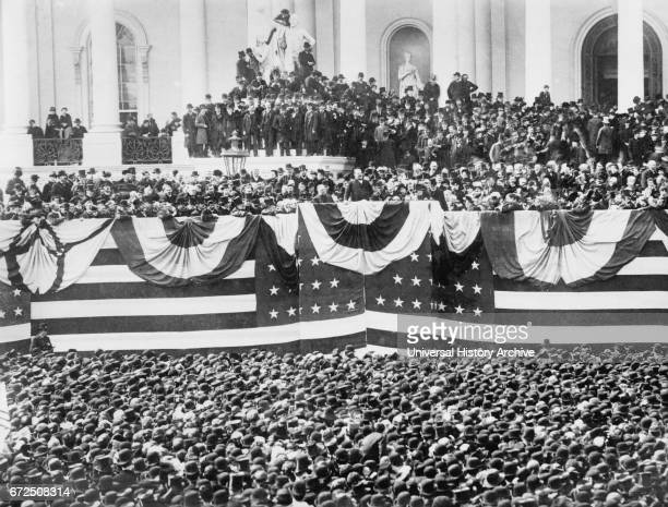 U S President Grover Cleveland Inauguration Capitol Building Washington DC USA Bain News Service March 4 1885