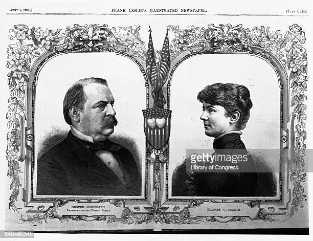 President Grover Cleveland is featured with his new bride Frances in an 1886 edition of Frank Leslie's Illustrated Newspaper