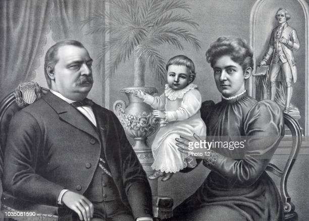President Grover Cleveland with his wife and children Cleveland was the 22nd and 24th President of the United States and is the only president to...