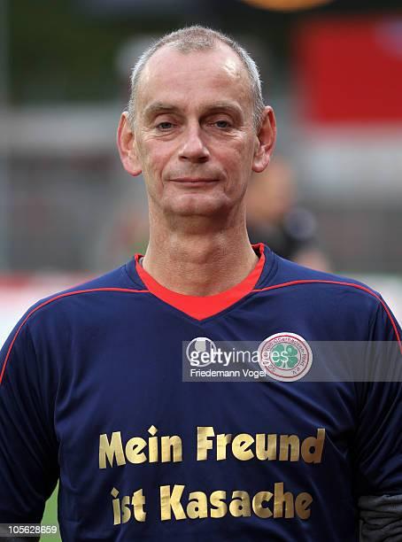 President Hajo Sommers of Oberhausen looks on during the Second Bundesliga match between RW Oberhausen and 1860 Muenchen at the Niederrhein Stadium...
