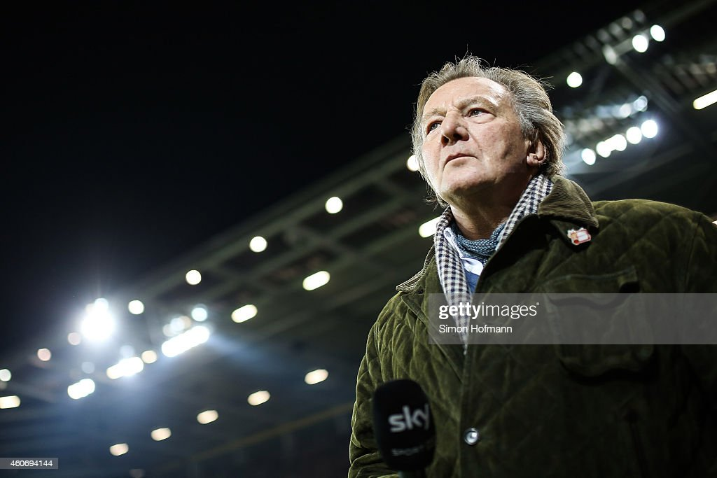 President Harald Strutz of Mainz looks on prior to the Bundesliga match between 1. FSV Mainz 05 and FC Bayern Muenchen at Coface Arena on December 19, 2014 in Mainz, Germany.