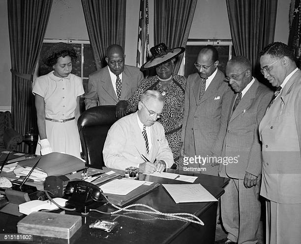 """President Harry Truman proclaims February 1st, the anniversary of the passage of the 13th Amendment to the Constitution , as """"National Freedom Day""""...."""