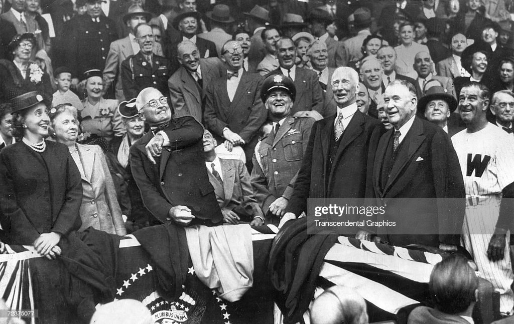 Connie Mack H. Truman Opening Day 1950 : News Photo