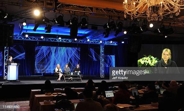 President HBO Miniseries Kary Antholis Actress Evan Rachel Wood Writer/Director/Producer Todd Haynes Actor Guy Pearce and Actress Kate Winslet speak...