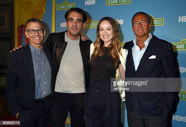President, HBO Programming, Michael Lombardo, actors Bobby Cannavale, Olivia Wilde and Chairman & CEO, HBO, Richard L. Plepler attend the HBO Winter...