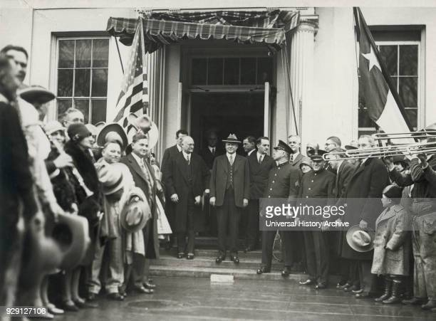 US President Herbert Hoover Greeting WellWishers on White House Lawn following his Inauguration Washington DC USA March 1929