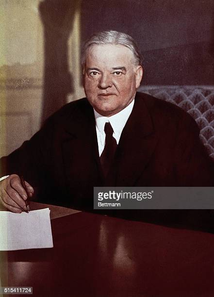 President Herbert Hoover signs the Farm Appropriation Bill