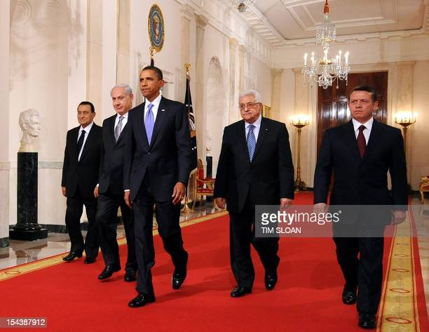 President Hosni Mubarak of Egypt Prime Minister Benjamin Netanyahu of Israel US President Barack Obama President Mahmoud Abbas of the Palestinian...