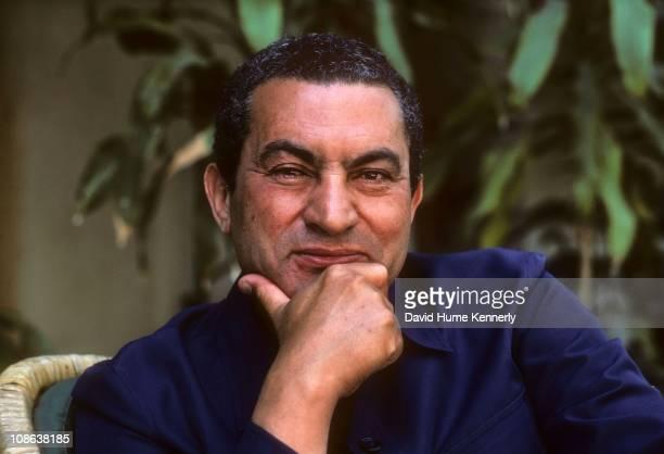 President Hosni Mubark at the presidential residence, Cairo, Egypt, 1982.