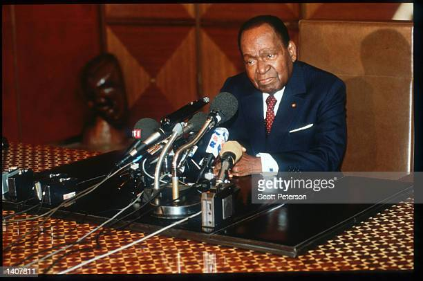 President Houphouet Boigny announces amnesty to all political prisoners August 10 1992 in Liberia The National Patriotic Front of Liberia which...