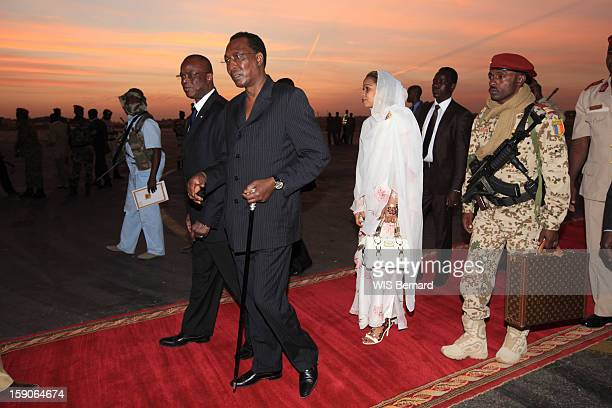 President Idriss Deby and his wife Hinda Deby on December 20 2012 in Biltine Chad