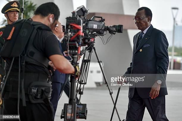 President Idriss Deby Itno of Chad arrives at the Hangzhou Exhibition Center to participate in G20 Summit on September 4 2016 in Hangzhou China