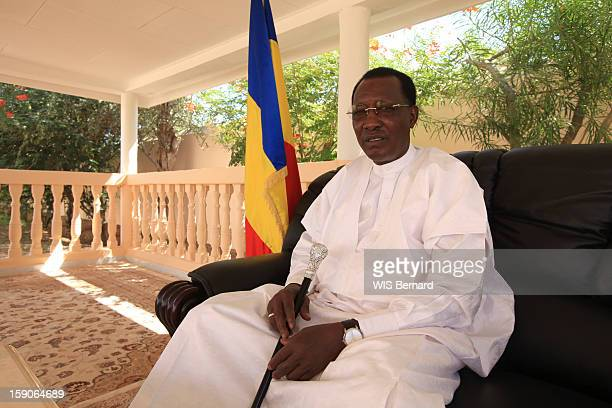President Idriss Deby poses on December 20 2012 in Biltine Chad