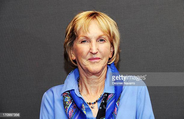 President Ingrid E Newkirk attends the unveiling of the PETA Campaign Against HorseDrawn Carriages at Rosenthal Pavilion on June 20 2013 in New York...