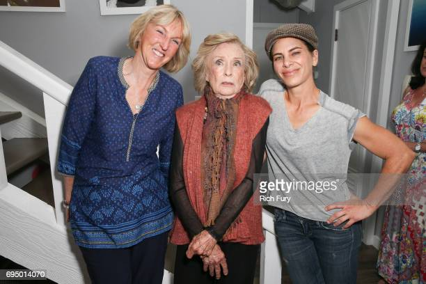 PETA President Ingrid Newkirk actor Cloris Leachman and TV personality/author Jillian Michaels attend the PETA Fundraising Event at Private Residence...