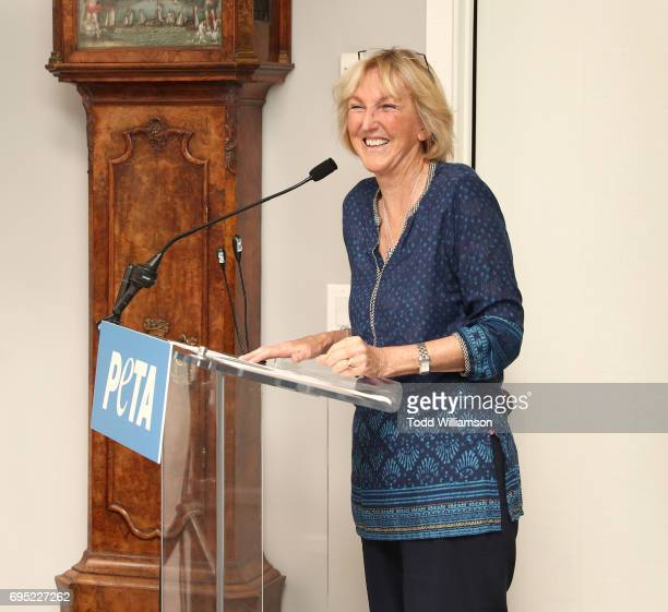 President Ingrid Newkirk attends a PETA Fundraising Event at a Private Residence on June 11 2017 in Malibu California