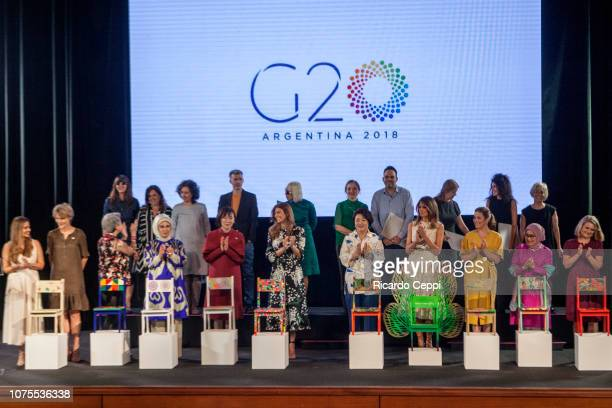 President Interamerican Development Bank Maria Gabriela Sigala, Financial Stability Board Diana Carney, First Lady of Singapore Ho Ching, First Lady...