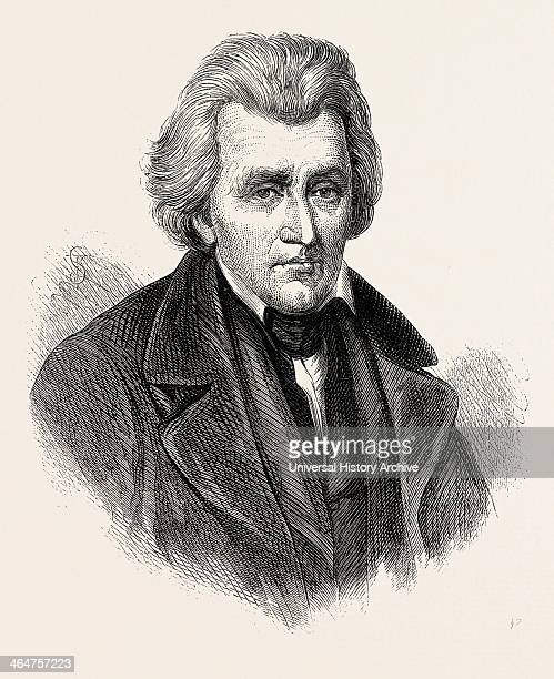 President Jackson He Was The Seventh President Of The United States US USA 1870s Engraving