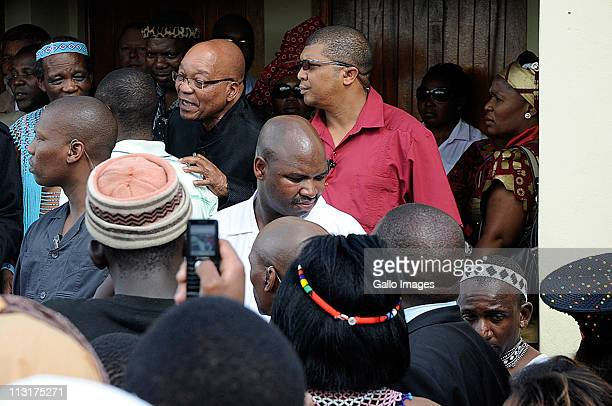 President Jacob Zuma arrives at the traditional wedding ceremony for his daughter Duduzile Zuma and Lonwabo Sambudla former head of Lembede...
