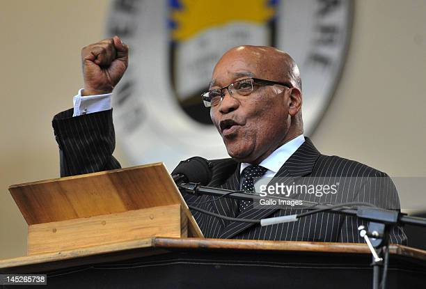 President Jacob Zuma delivers a lecture in honour of the late fifth President General of the ANC, Pixley Seme, as part of the ANC centenary...