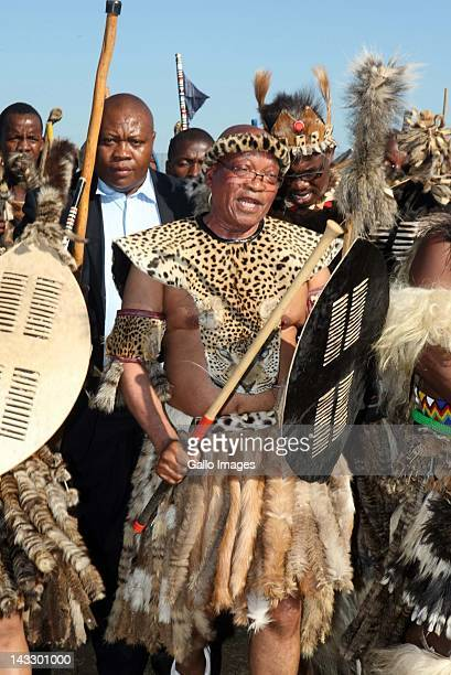 President Jacob Zuma during his traditional wedding ceremony to Bongi Ngema on April 20 2012 in Nkandla South Africa The president who has been...