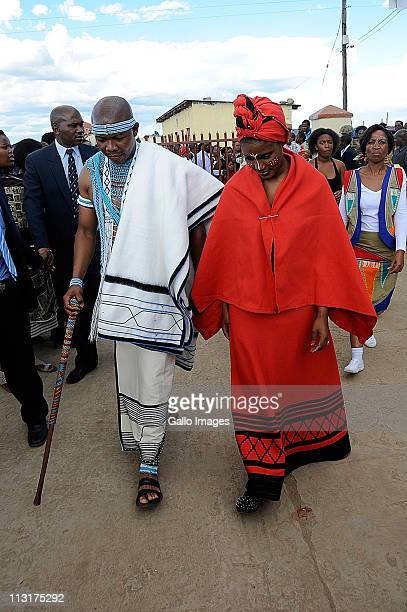 President Jacob Zuma's daughter Duduzile Zuma and former head of Lembede Investment Holdings Lonwabo Sambudla attend their traditional wedding...