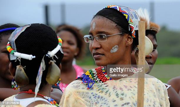 President Jacob Zuma's daughter Duduzile Zuma attends her uMemulo ceremony at the Zuma homestead on 21 April 21 2011 in Nkandla in KwaZulu Natal...