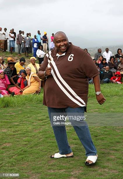 President Jacob Zuma's nephew Khulubuse Zuma attends the joint uMemulo ceremony for President Jacob Zuma daughters' Duduzile and Phumzile at the Zuma...