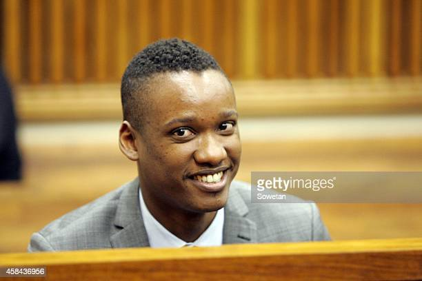 President Jacob Zuma's son Duduzane Zuma at the Randburg Margistrate Court on November 4 2014 in Johannesburg South Africa Zuma's was attending an...