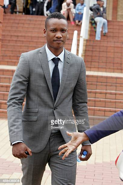 President Jacob Zuma's son Duduzane Zuma leaves the Randburg Margistrate Court on November 4 2014 in Johannesburg South Africa Zuma's was attending...