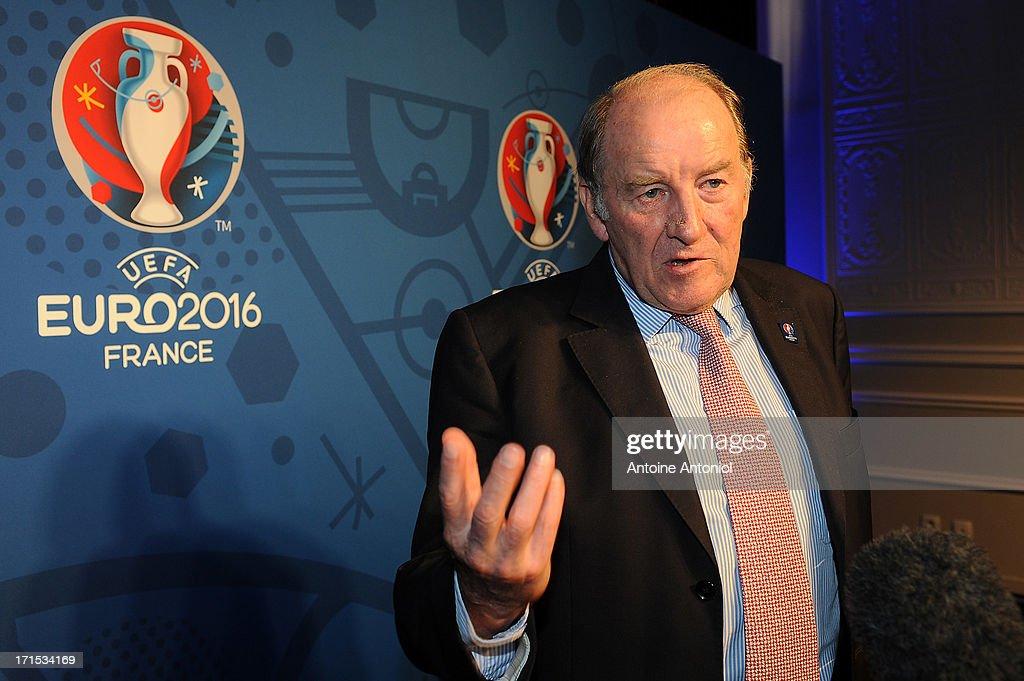 EURO 2016 Logo & Slogan Launch : News Photo