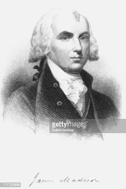 US President James Madison circa 1790