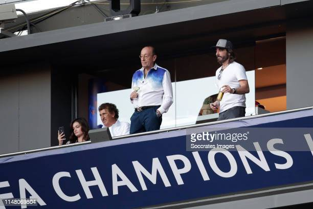 president Javier Hidalgo of Globalia during the UEFA Champions League match between Tottenham Hotspur v Liverpool at the Wanda Metropolitano on June...