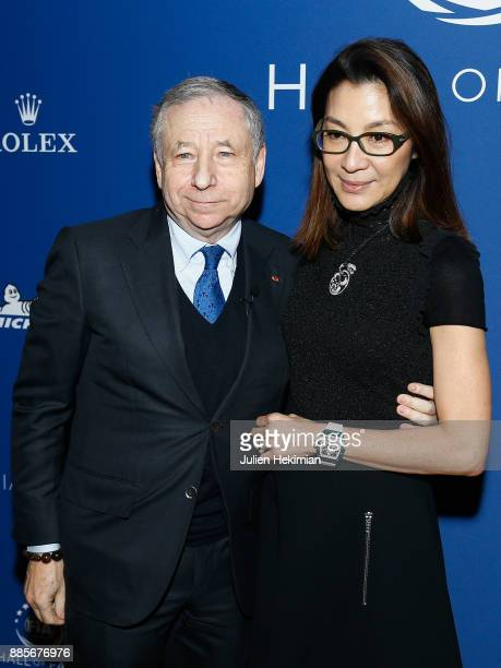 President Jean Todt and his wife Michelle Yeoh attend the FIA Hall of Fame Induction ceremony at Automobile Club De France on December 4 2017 in...