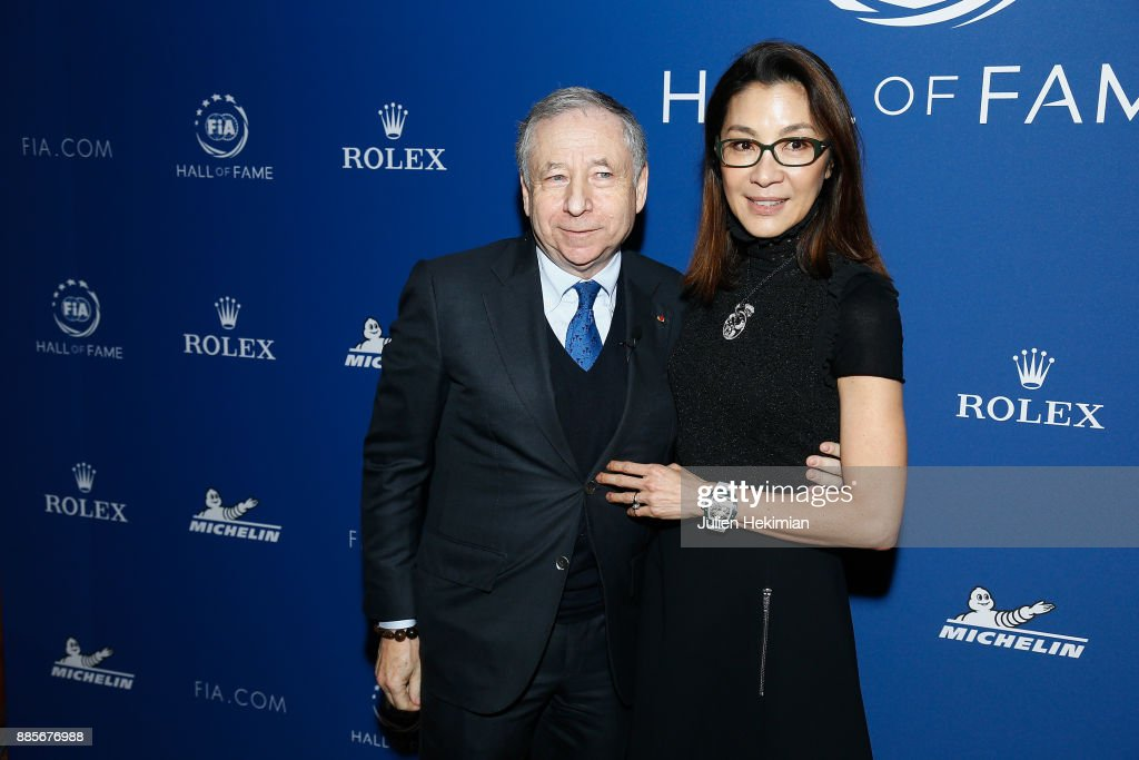 President Jean Todt and his wife Michelle Yeoh attend the FIA Hall of Fame Induction ceremony at Automobile Club De France on December 4, 2017 in Paris, France.