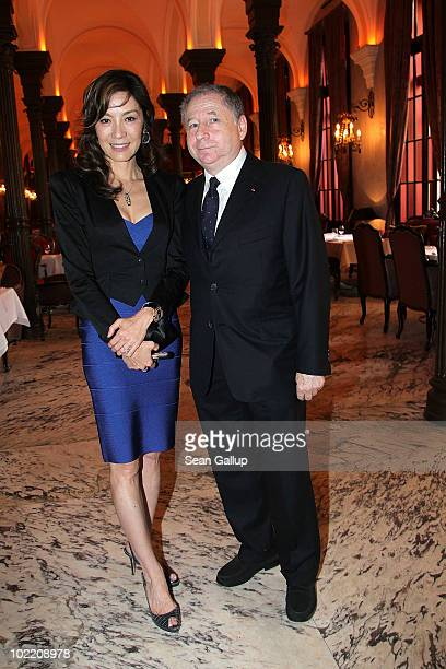President Jean Todt and wife and actress Michelle Yeoh attend the Gala Concert during the Montblanc White Nights Festival at Mariinsky Theatre...
